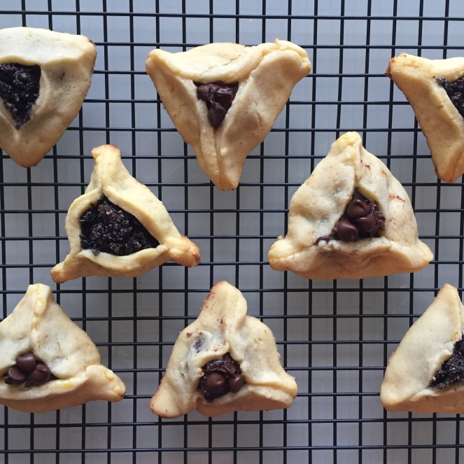 Hamantaschen on rack